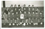 CCI cross country team ca. 1966. Coached to victory at the provincial meet at Swift Current by Mr. Roy Thiessen.