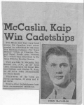 Central Graduate  John McCaslin goes to Royal Military College in 1950