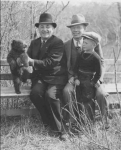 Bob McRitchie, His brother (also a CCI graduate) and Father, receiving a bear cub for the Moose Jaw Wild Animal park. Bo
