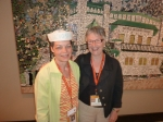 Nola Heal Engle (Class of 1964), a longtime ANCHOR Party booster with friend Barb Wigmore (Class of 1961) at THE SPA