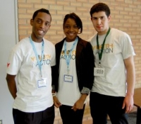 Elyas Adam, Razan Suliman and Mohammed Tarhuni -- leaders of Central Collegiate's Youth In Action multicultural stu