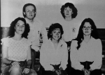 1982 Future Problem SolversJoanne Foster, Tammy Russell, Heather WardBack: Mr. Henderson, Heather Thiessen