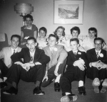 1958 Graduation DanceBoys left to right:  Gary Lees, John Amiss, Peter McQueen, Gary Keenan, Gary Willison Girls left to