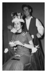 Linda Dommer, Miss Central 1959, being crowned by Rob Boadway