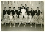 Graduation - class IVC  Back row: Wayne Towriss, Albert Mews. Middle Row:Bob Pinches, Peter Johnson, Bill Balezantis, Bi