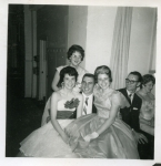 Grad Dance 1961   Mary Livingston, Joe McGinn, Inez Cockrell, Mr McIvor, Janet Robinson (behind)