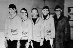 1967/1968 Boy's Curling Team  Skip: Craig Moore, Third: Bill Cave, Second: Brad Prather, Lead: Glen Hillson, Coach: Ade