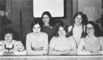 1974 Pep ClubF: Marianne Berezny, Kelly Knox, Kari Stephenson, Mary Jane HoodB: Shelley McLeod, Barb Hughton