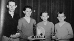 1957 Central Tech Bonspiel WinnersRon Booth, Don Bell, Skip Hudson, Jim Howes