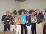 The King George Crew: Rich Wickens (71), Terry Sargeant, Dave Phillips, Gord McCaw, Paddy Thompson, Bill Muirhead and Da
