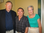 Dennis Latham,John Murakami (Mr Football in his day) and his wife.