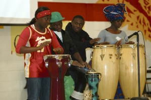A drum performance began the celebrations at the Cultural Fair at Central Collegiate.